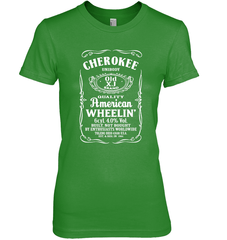 Cherokee - Whiskey Style Next Level The Boyfriend Tee / Forest Green / S Shirts