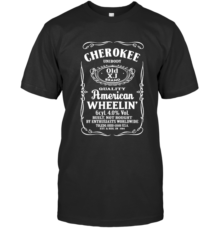 Cherokee - Whiskey Style Next Level Unisex Fitted Tee / Black / S Shirts