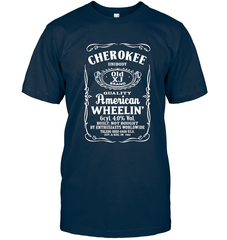 Cherokee - Whiskey Style Next Level Unisex Fitted Tee / Midnight Navy / S Shirts