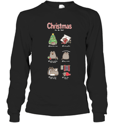 Christmas To-Do List Gildan Long Sleeve T-Shirt / Black / S Shirts