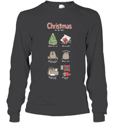 Christmas To-Do List Gildan Long Sleeve T-Shirt / Dark Heather / S Shirts