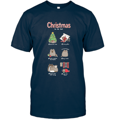 Christmas To-Do List Next Level Unisex Fitted Tee / Midnight Navy / S Shirts