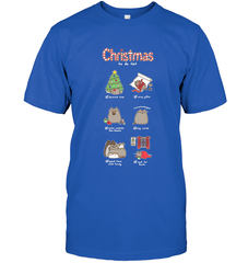 Christmas To-Do List Next Level Unisex Fitted Tee / Royal / S Shirts