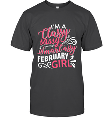 Shirts - Classy Sassy Assy February Girl - Delightee.com