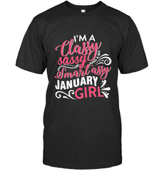 Classy Sassy Assy January Girl Gildan Ultra Cotton T-Shirt / Black / S Shirts