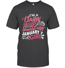 Classy Sassy Assy January Girl Gildan Ultra Cotton T-Shirt / Dark Heather / S Shirts