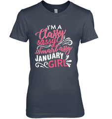 Classy Sassy Assy January Girl Gildan Ultra Cotton Women's T-Shirt / Navy / S Shirts