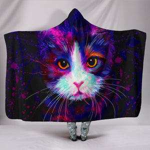 - Color Cat - Hooded Blanket - Delightee.com