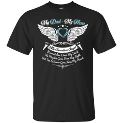 Dad - Hero and Angel Custom Ultra Cotton T-Shirt / Black / Small Shirts
