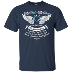 Dad - Hero and Angel Custom Ultra Cotton T-Shirt / Navy / Small Shirts