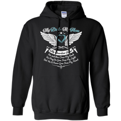 Dad - Hero and Angel Pullover Hoodie 8 oz / Black / Small Shirts