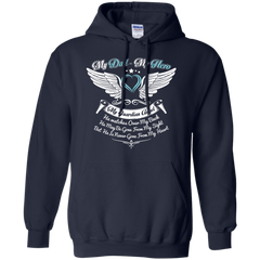 Dad - Hero and Angel Pullover Hoodie 8 oz / Navy / Small Shirts