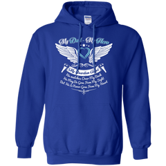 Dad - Hero and Angel Pullover Hoodie 8 oz / Royal / Small Shirts