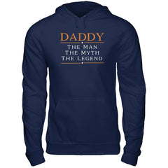 Daddy - The Man The Myth The Legend Gildan - Pullover Hoodie / Navy / S Shirts