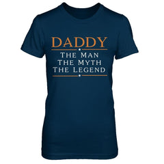 Daddy - The Man The Myth The Legend Next Level - The Boyfriend Tee / Midnight Navy / XS Shirts