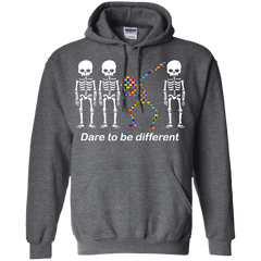 Dare To Be Different G185 Gildan Pullover Hoodie 8 oz. / Dark Heather / S Apparel