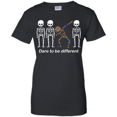 Dare To Be Different G200L Gildan Ladies' 100% Cotton T-Shirt / Black / X-Small Apparel