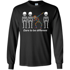 Dare To Be Different G240 Gildan LS Ultra Cotton T-Shirt / Black / S Apparel