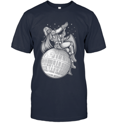 Darth Vader Wrecking Ball Next Level Unisex Fitted Tee / Indigo / XS Apparel