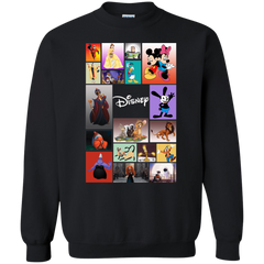 Disney Characters All In One G180 Gildan Crewneck Pullover Sweatshirt  8 oz. / Black / Small Apparel