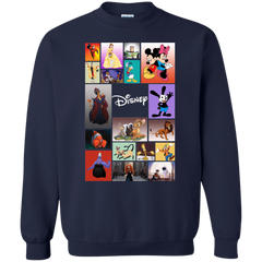 Disney Characters All In One G180 Gildan Crewneck Pullover Sweatshirt  8 oz. / Navy / Small Apparel