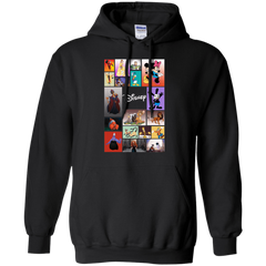 Disney Characters All In One G185 Gildan Pullover Hoodie 8 oz. / Black / Small Apparel