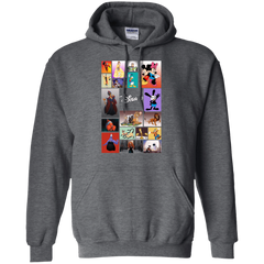 Disney Characters All In One G185 Gildan Pullover Hoodie 8 oz. / Dark Heather / Small Apparel