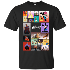 Disney Characters All In One G200 Gildan Ultra Cotton T-Shirt / Black / Small Apparel