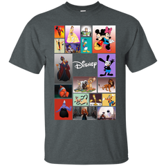 Disney Characters All In One G200 Gildan Ultra Cotton T-Shirt / Dark Heather / Small Apparel