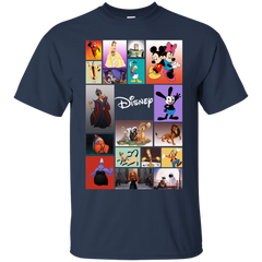 Disney Characters All In One G200 Gildan Ultra Cotton T-Shirt / Navy / Small Apparel