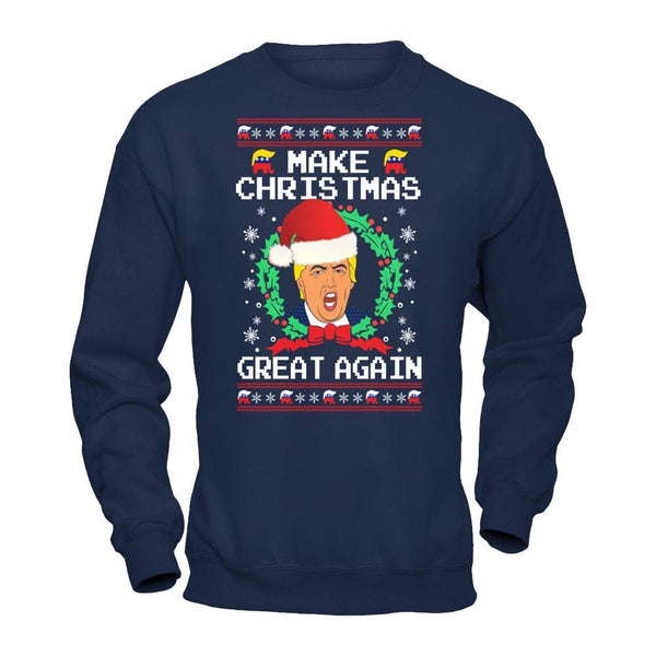 shirts donald trump make christmas great again ugly christmas sweater delighteecom
