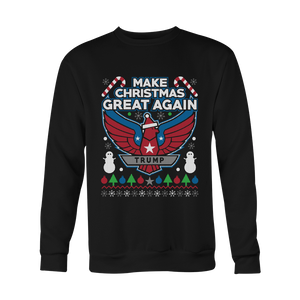 Shirts - Donald Trump Make Christmas Great Again Ugly Sweater Printed - Delightee.com