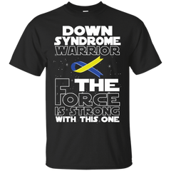 Down Syndrome Warrior Custom Ultra Cotton T-Shirt / Black / Small Shirts