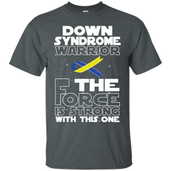 Down Syndrome Warrior Custom Ultra Cotton T-Shirt / Dark Heather / Small Shirts