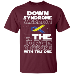 Down Syndrome Warrior Custom Ultra Cotton T-Shirt / Maroon / Small Shirts