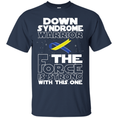Down Syndrome Warrior Custom Ultra Cotton T-Shirt / Navy / Small Shirts