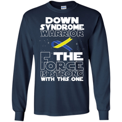 Down Syndrome Warrior LS Ultra Cotton Tshirt / Navy / Small Shirts