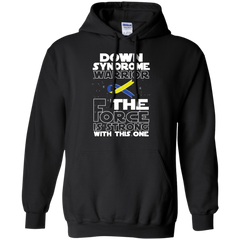 Down Syndrome Warrior Pullover Hoodie 8 oz / Black / Small Shirts