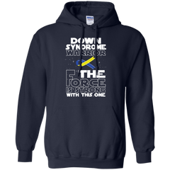 Down Syndrome Warrior Pullover Hoodie 8 oz / Navy / Small Shirts