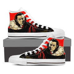 Dracula shoes Men's High Top - White / US8 (EU40) / White Shoes