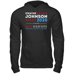 Dwayne For President 2020 Gildan Heavy Blend Hoodie 8oz. / Black / S Shirts