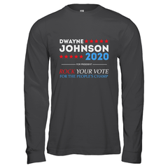 Dwayne For President 2020 Gildan Long Sleeve T-Shirt / Dark Heather / S Shirts