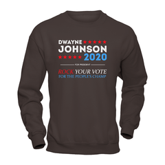 Dwayne For President 2020 Heavy Blend Crewneck Sweatshirt / Dark Chocolate / S Shirts