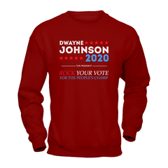 Dwayne For President 2020 Heavy Blend Crewneck Sweatshirt / Maroon / S Shirts