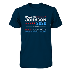 Dwayne For President 2020 Next Level Unisex Fitted Tee / Midnight Navy / S Shirts