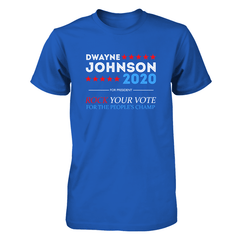 Dwayne For President 2020 Next Level Unisex Fitted Tee / Royal / S Shirts