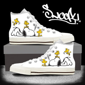 Shoes - Exclusive Snoopy High Top Shoes - Delightee.com