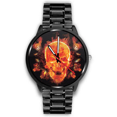 Watch - Fire Skull Watch - Delightee.com