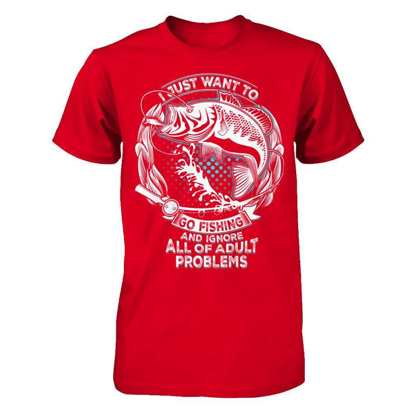 Go Fishing and Ignore Problems - Men Red / XS Shirts