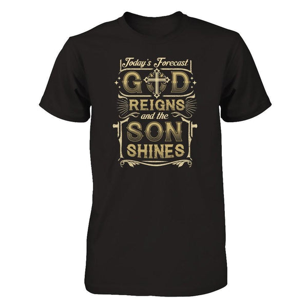 God Reigns and The Son Shines Next Level - Unisex Fitted Tee / Black / XS Shirts